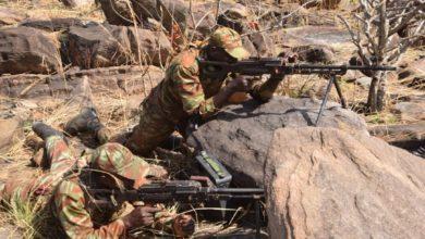 Militaires béninois lors de la manoeuvre Singré 2019