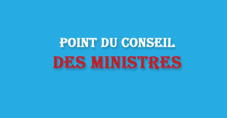 Conseil des ministres du mercredi 5 février 2020